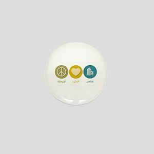 Peace Love Latin Mini Button (10 pack)