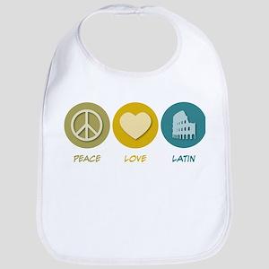 Peace Love Latin Bib