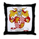 Duarte Family Crest Throw Pillow