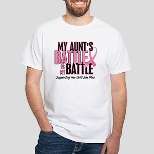 My Battle 1 (Aunt BC) White T-Shirt