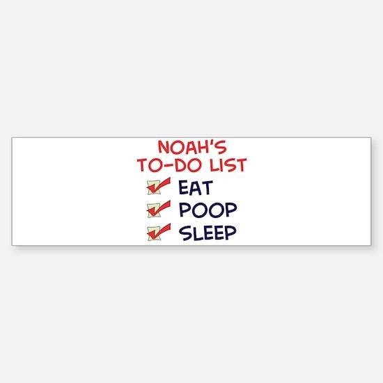 Noah's To-Do List Bumper Bumper Bumper Sticker