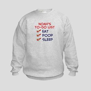 Noah's To-Do List Kids Sweatshirt