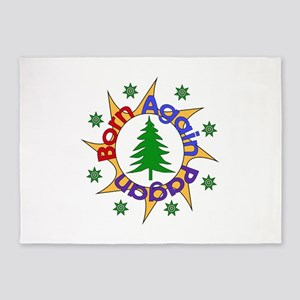 Born Again Pagan Sun 5'x7'Area Rug