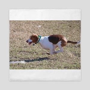 Flying Beagle Queen Duvet