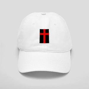 Red Cross/Black Background Cap