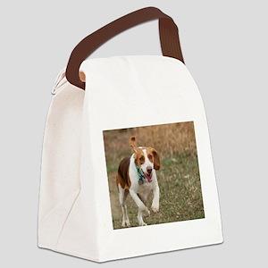 Beagle Running, Canvas Lunch Bag