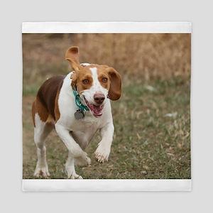 Beagle Running, Queen Duvet
