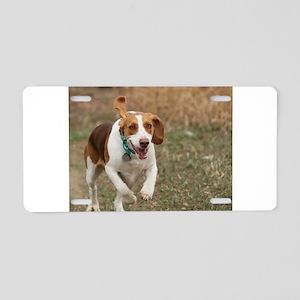 Beagle Running, Aluminum License Plate