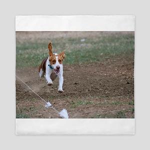 Beagle flying Queen Duvet