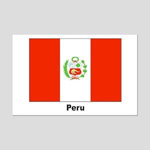 Peru Peruvian Flag Mini Poster Print