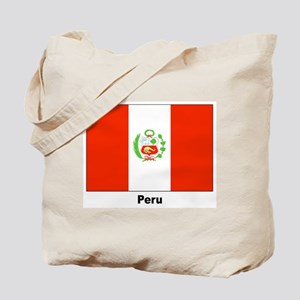 Peru Peruvian Flag Tote Bag
