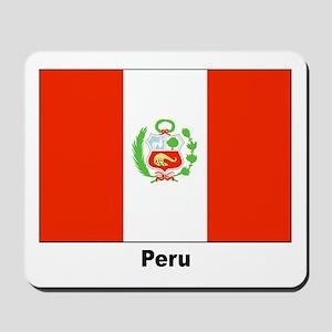Peru Peruvian Flag Mousepad