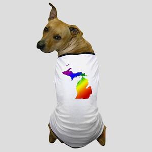 Michigan Gay Pride Dog T-Shirt