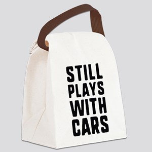 Still Plays With Cars Canvas Lunch Bag