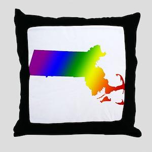 Massachusetts Gay Pride Throw Pillow