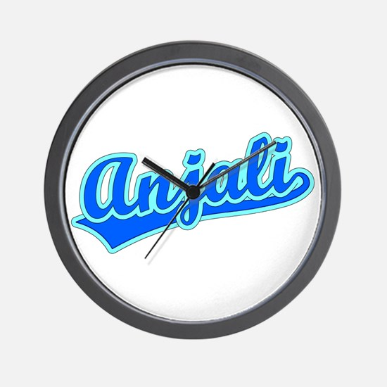 Retro Anjali (Blue) Wall Clock