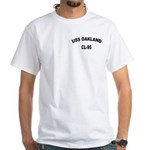 USS OAKLAND White T-Shirt