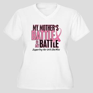 My Battle Too 1 (Mother BC) Women's Plus Size V-Ne