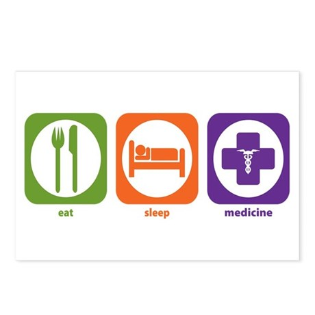 Eat Sleep Medicine Postcards (Package of 8)