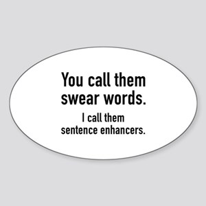 Sentence Enhancers Sticker (Oval)