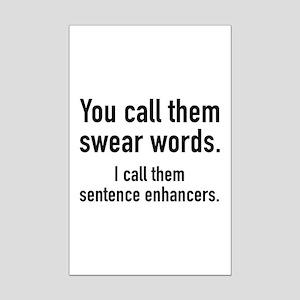 Sentence Enhancers Mini Poster Print