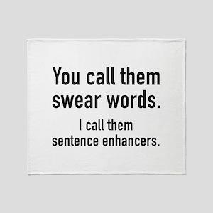 Sentence Enhancers Stadium Blanket