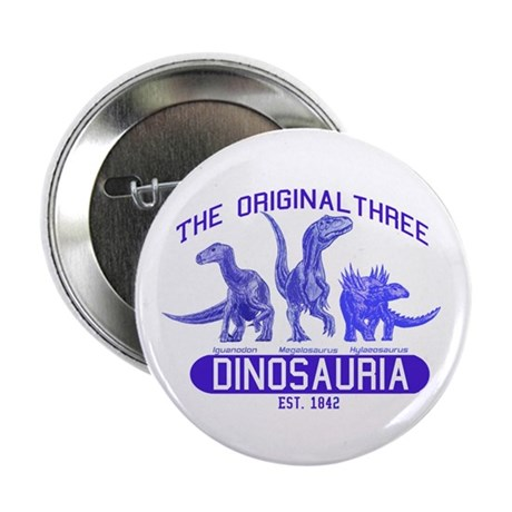 "Blue Dinosauria 2.25"" Button (10 pack)"