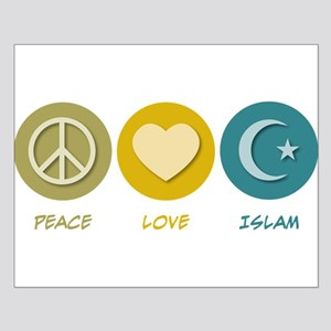 Peace Love Islam Small Poster