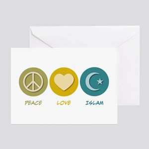 Peace Love Islam Greeting Card