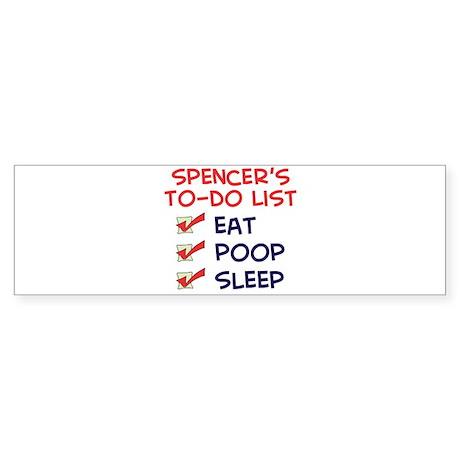 Spencer's To-Do List Bumper Sticker