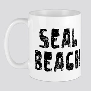 Seal Beach Faded (Black) Mug