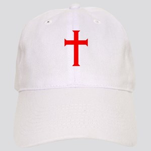 Red Cross/White Background Cap