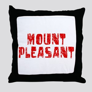 Mount Pleasant Faded (Red) Throw Pillow