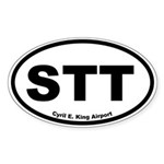 Cyril E. King Airport Oval Sticker