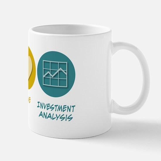 Peace Love Investment Analysis Mug