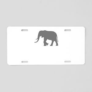 Elephant Aluminum License Plate