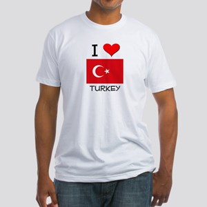 I Love Turkey Fitted T-Shirt