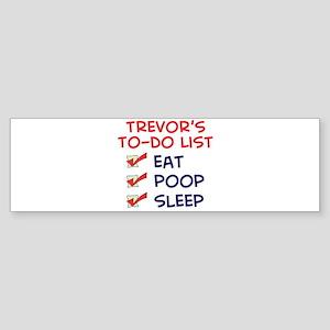 Trevor's To-Do List Bumper Sticker