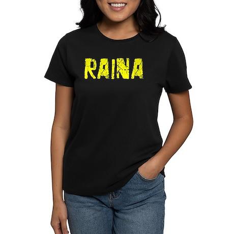 Raina Faded (Gold) Women's Dark T-Shirt
