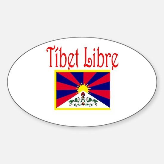Spanish Free Tibet Oval Decal
