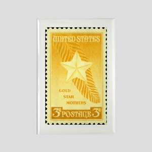 Gold Star Mothers Military Stamp Rectangle Magnet