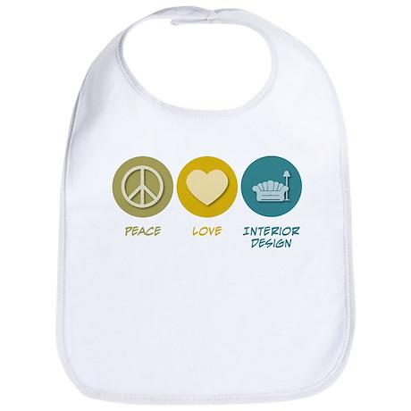 Peace Love Interior Design Bib