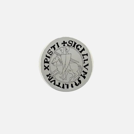Old Style Templar Seal Mini Button