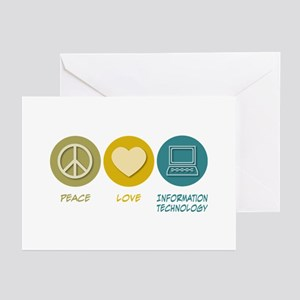 f5cfc795aff Peace Love Information Technology Greeting Cards (