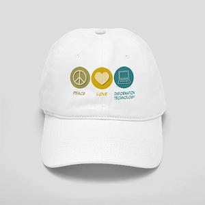Peace Love Information Technology Cap