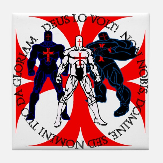 Templar Superheroes Tile Coaster