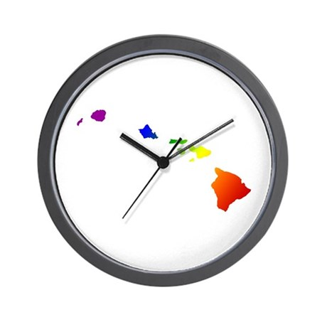 Hawaii Gay Pride Wall Clock