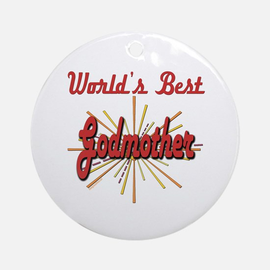 Starburst Godmother Ornament (Round)