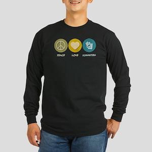Peace Love Humanities Long Sleeve Dark T-Shirt