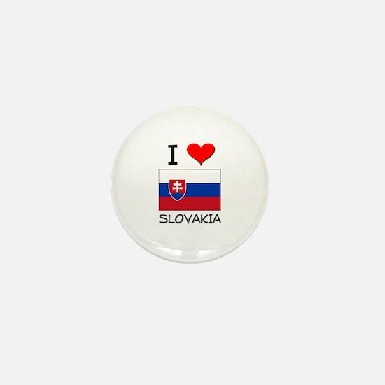 I Love Slovakia Mini Button